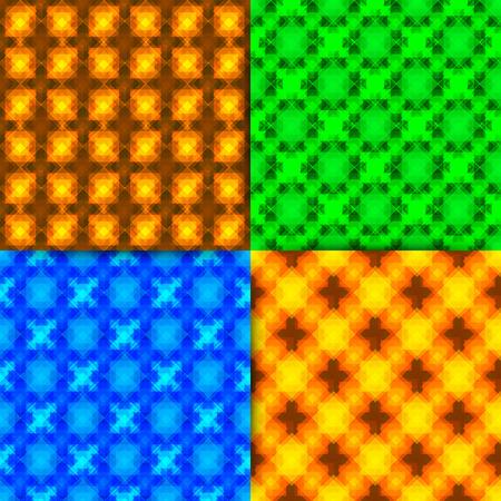 Vector seamless geometric patterns. Illustration