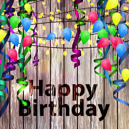 birthday celebration: Vector concept background birthday celebration.