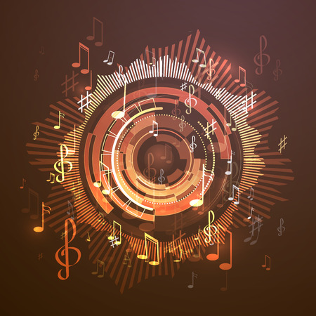 Vector illustration abstract music background Ilustração