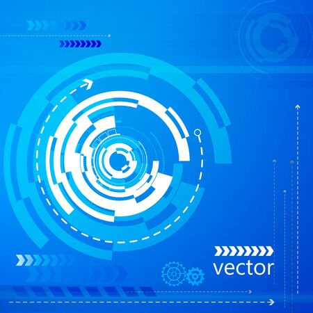 technology background: Vector Bright background Concept technology. Illustration