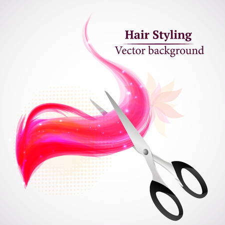 hair saloon: Vector background abstract hair styling. Beauty saloon. Illustration
