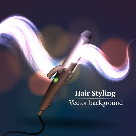 hair styling: Vector background abstract hair styling. Beauty saloon. Illustration