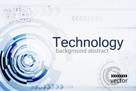 Vector Bright background Concept technology. Vettoriali