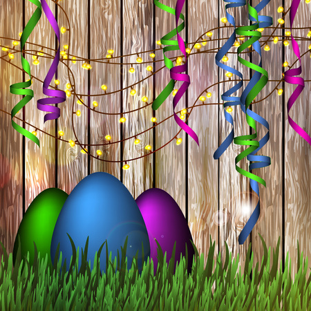 easter background: Vector illustration of a happy Easter. Background.