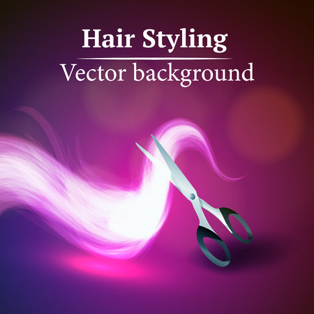 Vector background abstract hair styling. Beauty saloon. Illustration