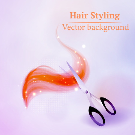 saloon: Vector background abstract hair styling. Beauty saloon. Illustration