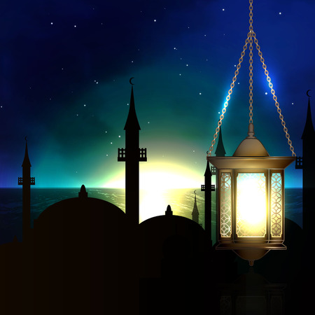 illustration of a concept of Ramadan, Islam.