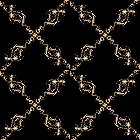 Vector sin patrón de oro sobre un fondo oscuro.