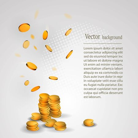gold: Abstract picture of gold coins.