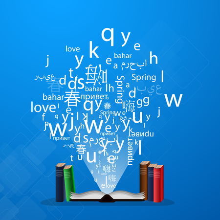 Learning a language, a polyglot to speak in different languages.