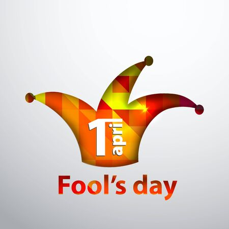 Illustration of April fool s day,first April.