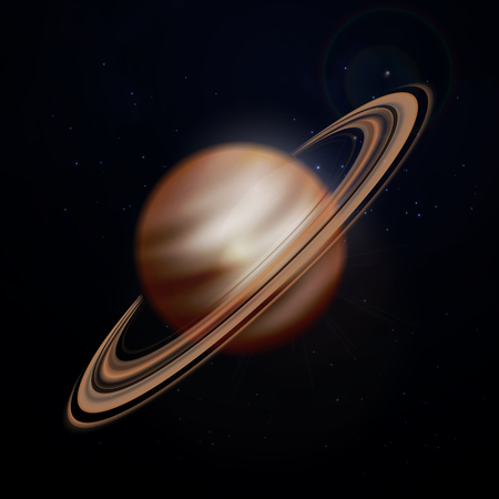 Planet saturn achtergrond. Vector Stock Illustratie
