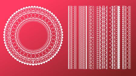 Straight Lace Set 向量圖像