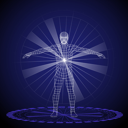 Vector illustration of a human design concept, horoscope, zodiac.