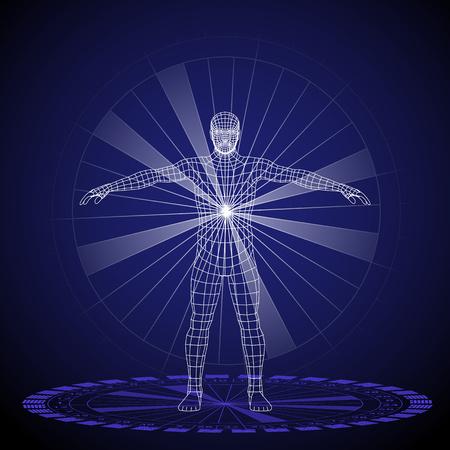 Vector la ilustración de un concepto de diseño humano, horóscopo, zodiaco.