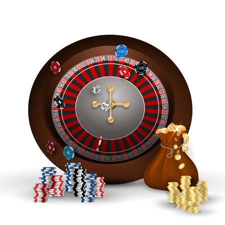 casino slot machine Vector illustration. Illustration