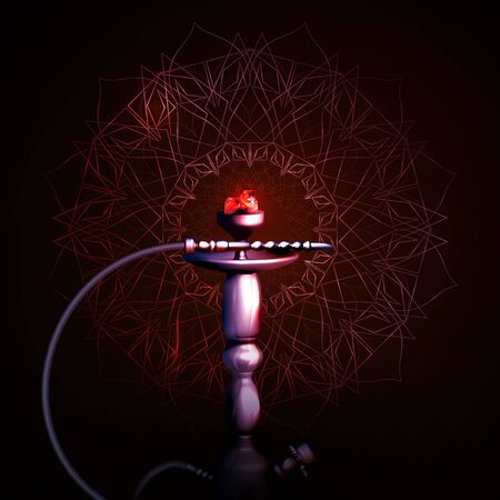 A hookah on a dark background