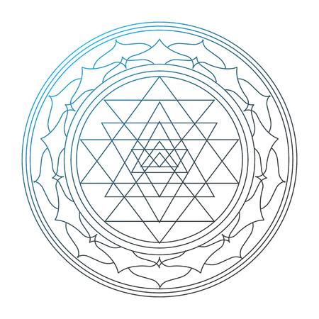 Illustration vectorielle du concept de la religion de l'hindouisme. Om est un symbole de l'hindouisme. Vecteurs