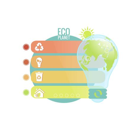 vector isolation of sustainability concept of environmental protection of ecological planet