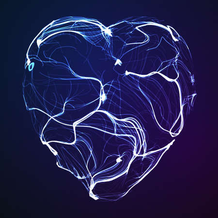 Abstract background from lines for banner. Иллюстрация