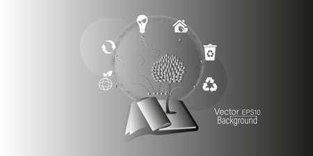 Vector isolation of sustainability concept of environmental protection of ecological planet. Vektoros illusztráció