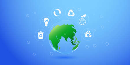 Vector isolation of sustainability concept of environmental protection of ecological planet.