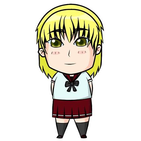 yellow hair: Capelli biondi ragazza. Vettoriali