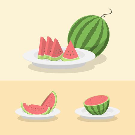 watermelon set Фото со стока - 57048534