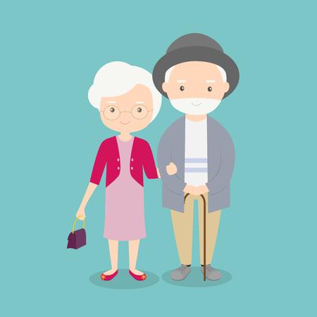 retired: cute elderly couple