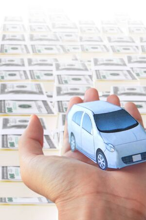 car loan: concept image of your car  Stock Photo