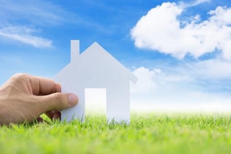 home loans: immagine concetto della mia casa da sogno Archivio Fotografico
