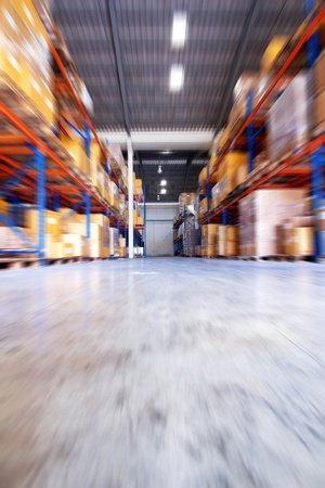 ship package: Move motion in warehouse