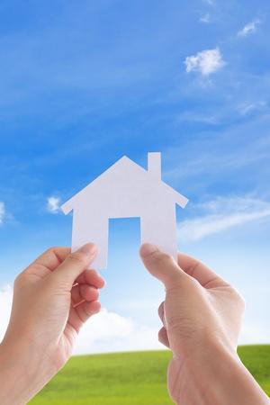 Concept image de Make notre maison, votre maison Banque d'images