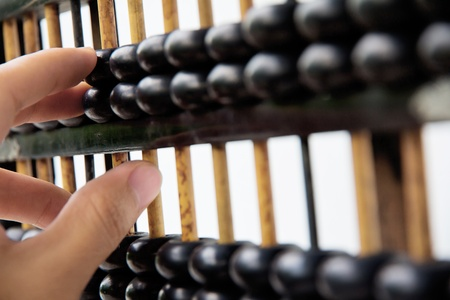 discrete: hand hold abacus