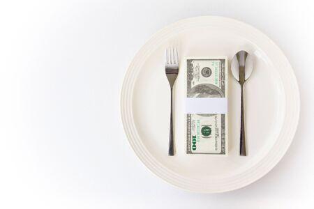 Concept image of food money Stock Photo - 11385314