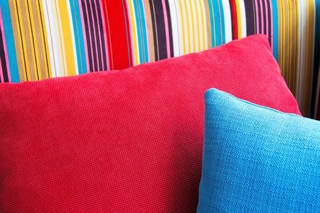 close up of Decorative pillow natural Fabric  photo