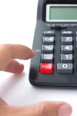 profit sign button  photo