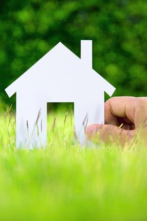 droomhuis: concept afbeelding van uw huis Stockfoto