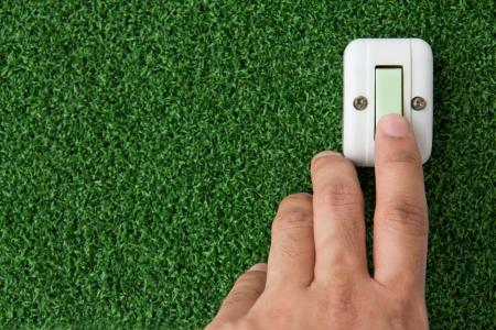 hands off: ahorrar concepto de energ�a