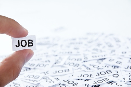 find a job: job concept Stock Photo