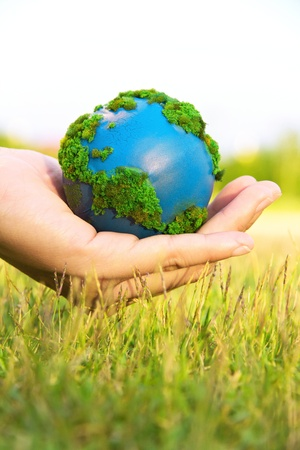 earth in hand  Stock Photo