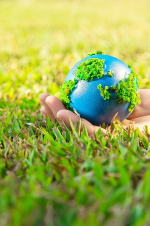 Environment and ecology concept,earth in hand