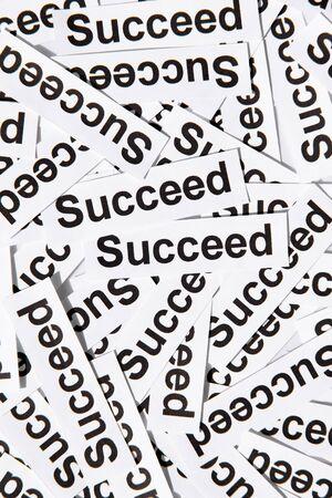 succeed: succeed concept
