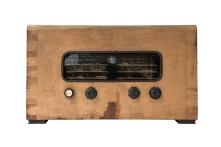 Vintage Radio on a white background.  photo