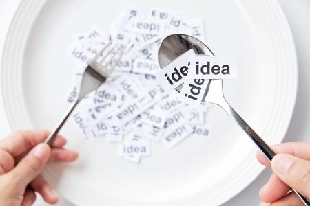 creative thinking: idea concept