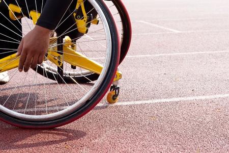 discapacitados: silla de ruedas