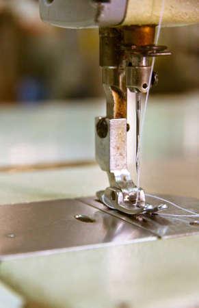 close up of sewing machine photo