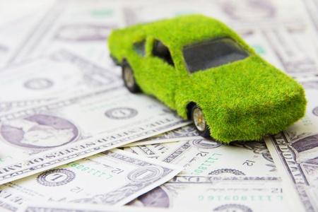 Eco car icon ,save money concept photo