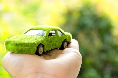 Eco car icon concept photo