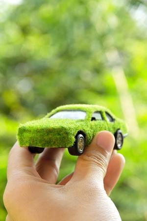 eco car: Eco auto pictogram concept Stockfoto